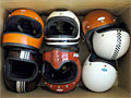 retro vintage motorcycle helmets