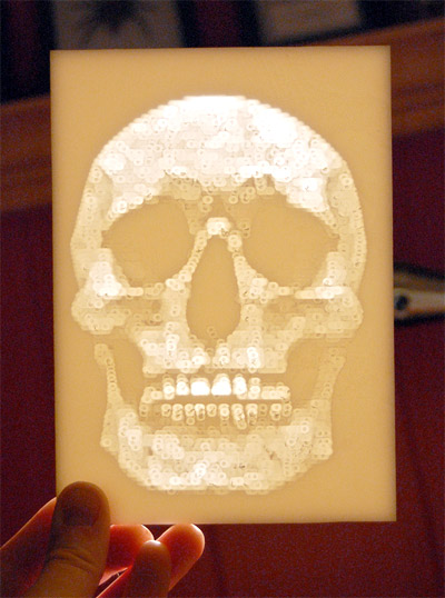 skull lithopane kit