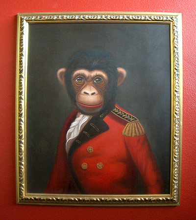 monkey painting