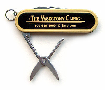 The Vasectomy Clinic penknife